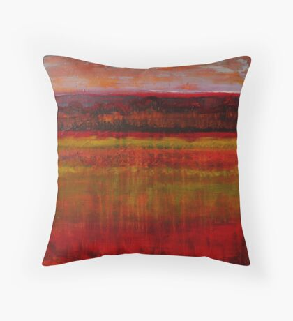 Seeing in the Almost Dark, mixed media on canvas Throw Pillow