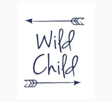 Wild Child in Navy Blue T-Shirt