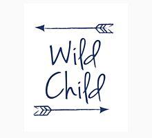 Wild Child in Navy Blue Unisex T-Shirt
