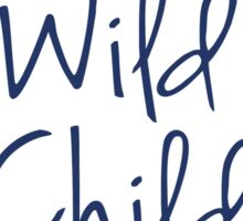 Wild Child in Navy Blue Sticker