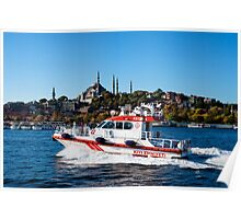 Rescue boat on the Golden Horn Poster
