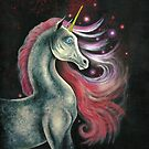 The Unicorn And The Red Stars by AngelArtiste