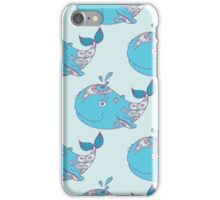 Whale  seamless sea pattern iPhone Case/Skin