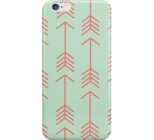 Mint & Coral Shooting Arrows iPhone Case/Skin