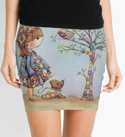 The Patchwork Tree Mini Skirt