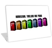 Homosexual Timelord and Proud Laptop Skin