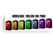 Homosexual Timelord and Proud Canvas Print