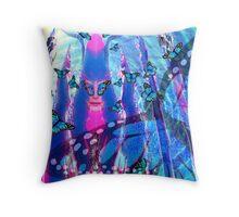 Blue Monarch Mistress Throw Pillow