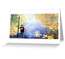 JET & Waterlillies Greeting Card