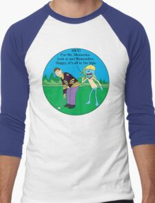 Mr. Meeseeks Happy Gilmore Parody Men's Baseball ¾ T-Shirt