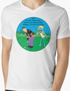 Mr. Meeseeks Happy Gilmore Parody Mens V-Neck T-Shirt