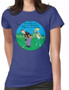 Mr. Meeseeks Happy Gilmore Parody Womens Fitted T-Shirt