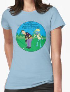 Mr. Meeseeks Happy Gilmore Parody Womens Fitted T-Shirt