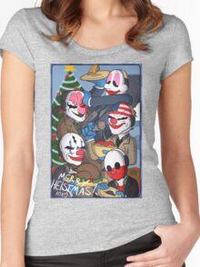 Merry Heistmas! Women's Fitted Scoop T-Shirt