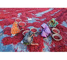Empowering Woman with Red Chili Photographic Print