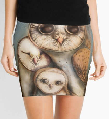 three wise owls Mini Skirt