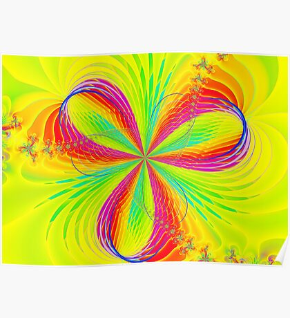 Colorful Flower Ribbons Poster
