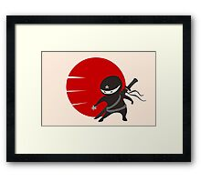 LITTLE NINJA STAR Framed Print