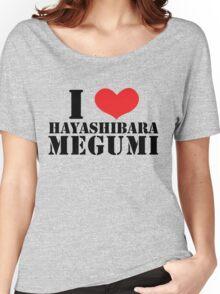 I Heart Hayashibara Megumi - White Women's Relaxed Fit T-Shirt