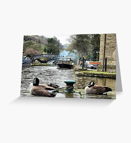 Rochdale canal  Greeting Card