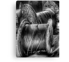 Wire Spools Canvas Print