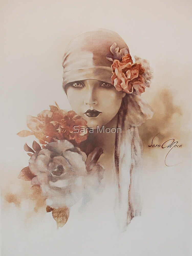 """Claudia"" Oil on Canvas by Sara Moon"