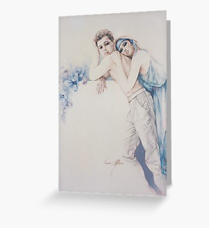 """""""Gentle Moments"""" Colour Pencil Artwork Greeting Card"""