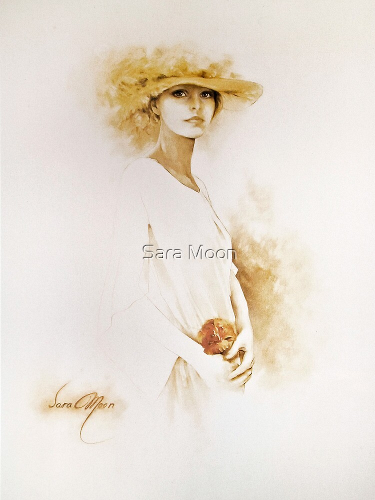 """Romantic"" Oil on Canvas by Sara Moon"