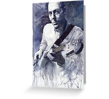Jazz Guitarist Rene Trossman Greeting Card