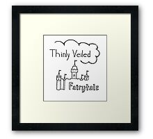 Thinly Veiled Fairy Tale (White) Framed Print