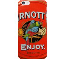 Biscuit Tin in Red iPhone Case/Skin