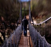 The Swing Bridge ~ York, WA by Pene Stevens