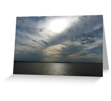 Clouds Over the Amazon River Greeting Card