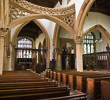 Interior of St Mary's Church, Rushden, Northamptonshire by fotdmike