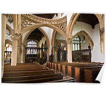 Interior of St Mary's Church, Rushden, Northamptonshire Poster
