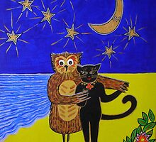 """The Owl and Pussycat dance by the light of the moon"" by Ilze Coombe"