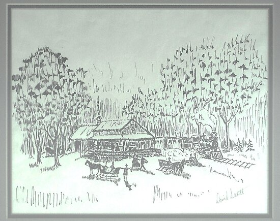 Winter in ink 1977 by David M Scott