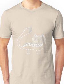 Arctic Fox White on Black Unisex T-Shirt