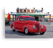 1938 Ford Deluxe Coupe Canvas Print