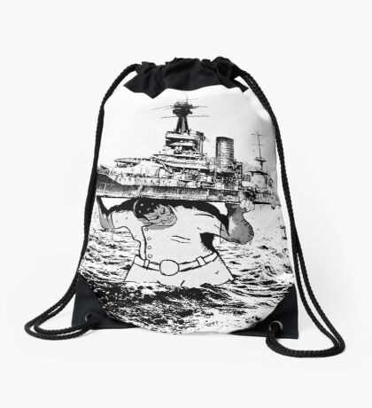 ATLAS OF THE WAVES Drawstring Bag