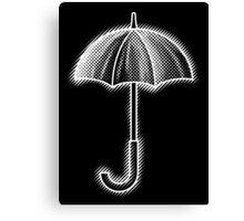 Umbrella White Canvas Print
