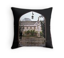 Thro the archway, there was rain Throw Pillow