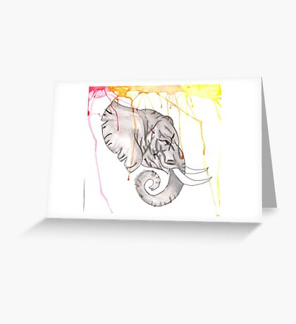 watercolor elephant  Greeting Card