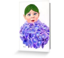 Flower Folk - Hydrangea Greeting Card
