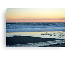 Atlantic Ocean Beach In The Morning - Walk With Me | Smith Point, New York  Canvas Print