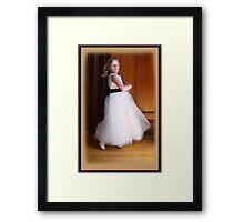 Dancing Flower Girl Framed Print