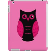 Black and Pink Owl (on pink) iPad Case/Skin
