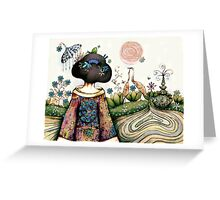 Topiary Teapot Greeting Card