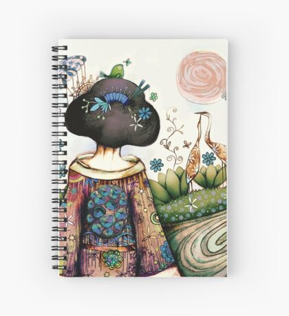 Topiary Teapot Spiral Notebook