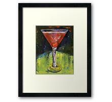 Comfortable Cherry Martini Framed Print
